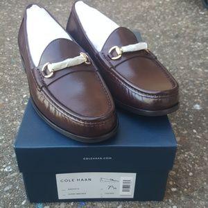 Cole Haan Ascot II Dark Brown 7.5 Dress Shoes Mens